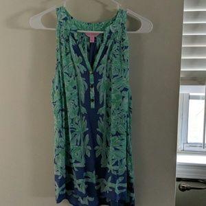SILK Lilly Pulitzer sleeveless blouse